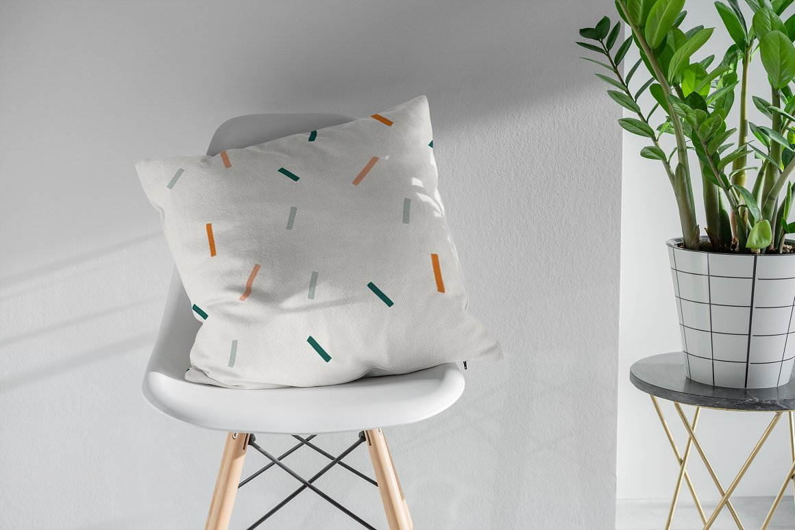 枕头抱枕样机模型