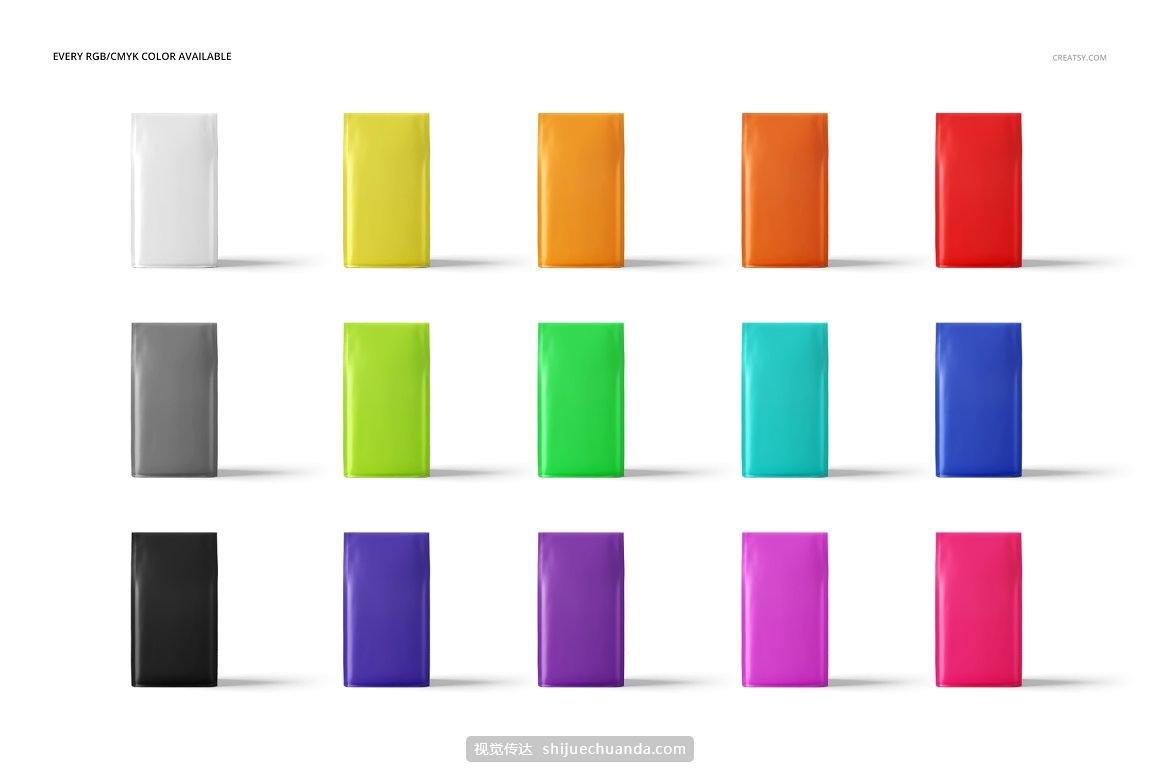 咖啡零食包装袋设计提案样机PSD模板