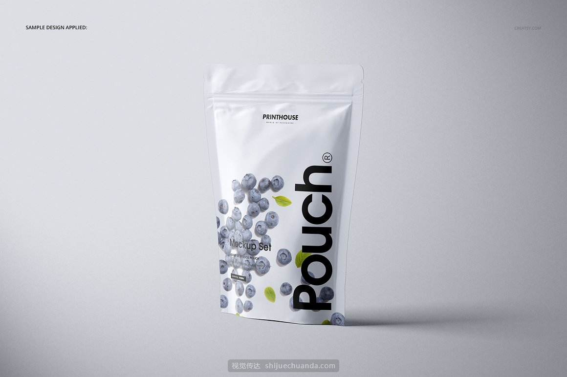 真空自封袋铝箔袋食品哑光包装袋设计样机模板