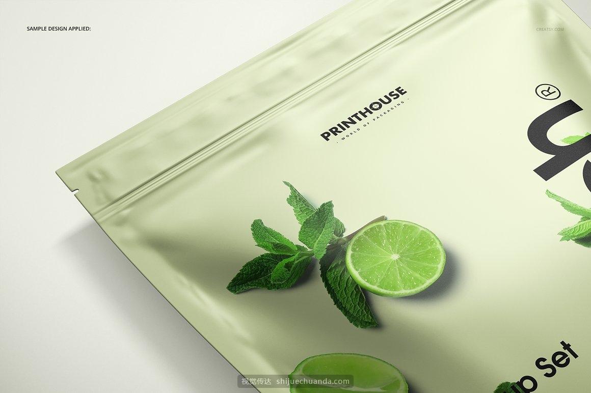 真空塑封袋自封袋咖啡食品包装样机模板