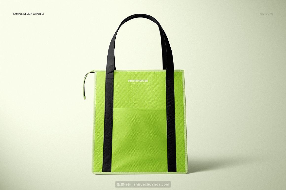 外卖保温冰袋包装设计提案样机PSD模板