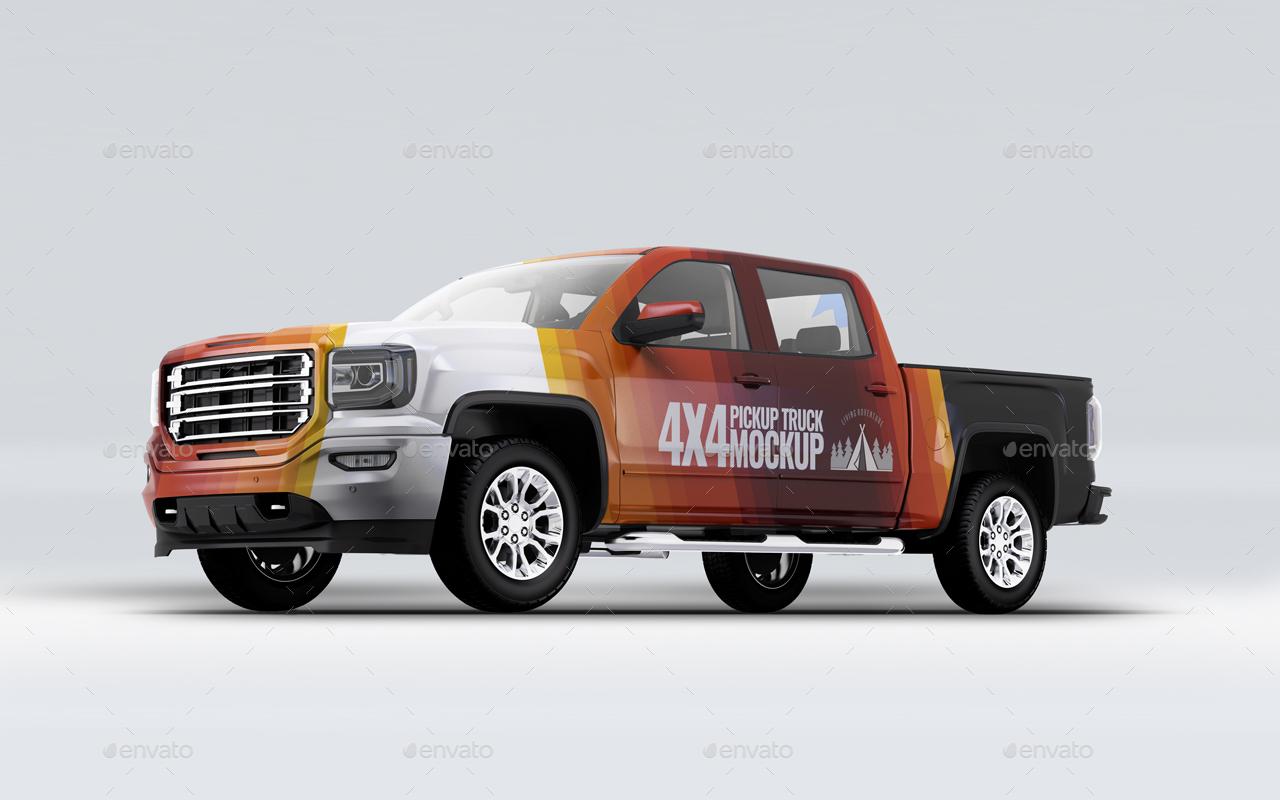 真实的卡车样机模型