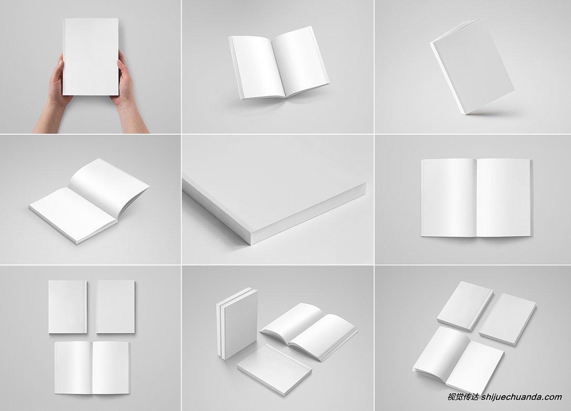 平装版图书样机模板