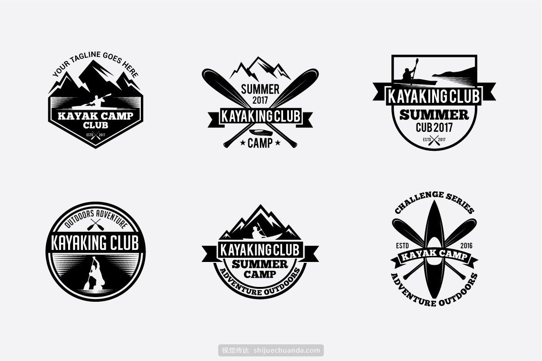 矢量冒险logo徽章标志合集