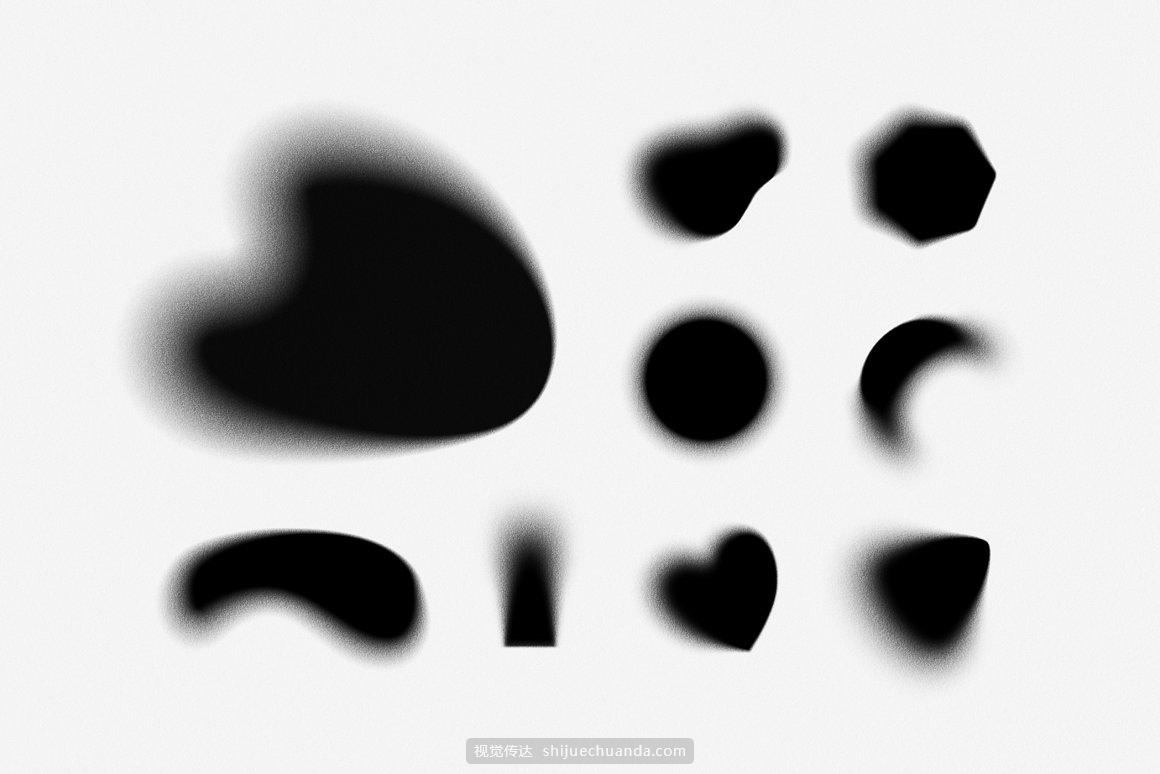 抽象渐变和形状