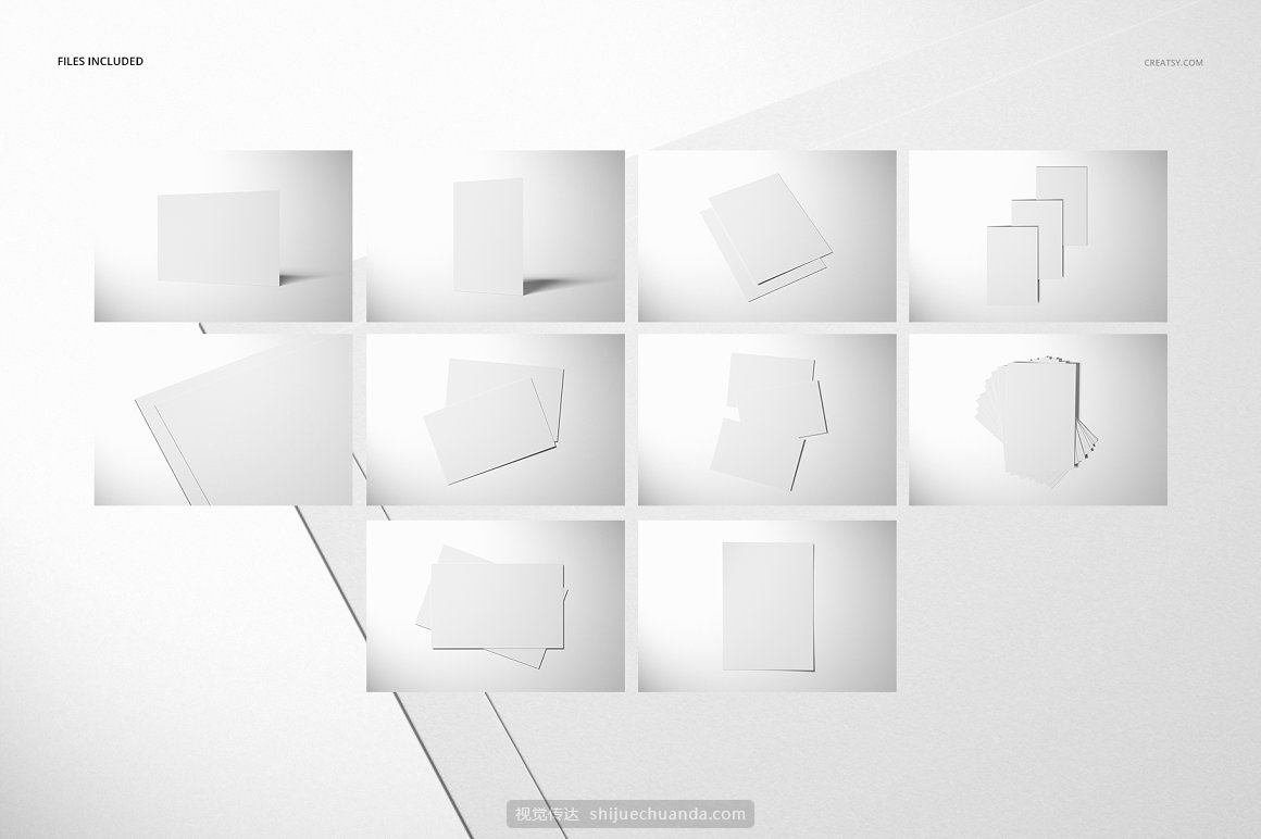 A4宣传单设计贴图样机PSD模板