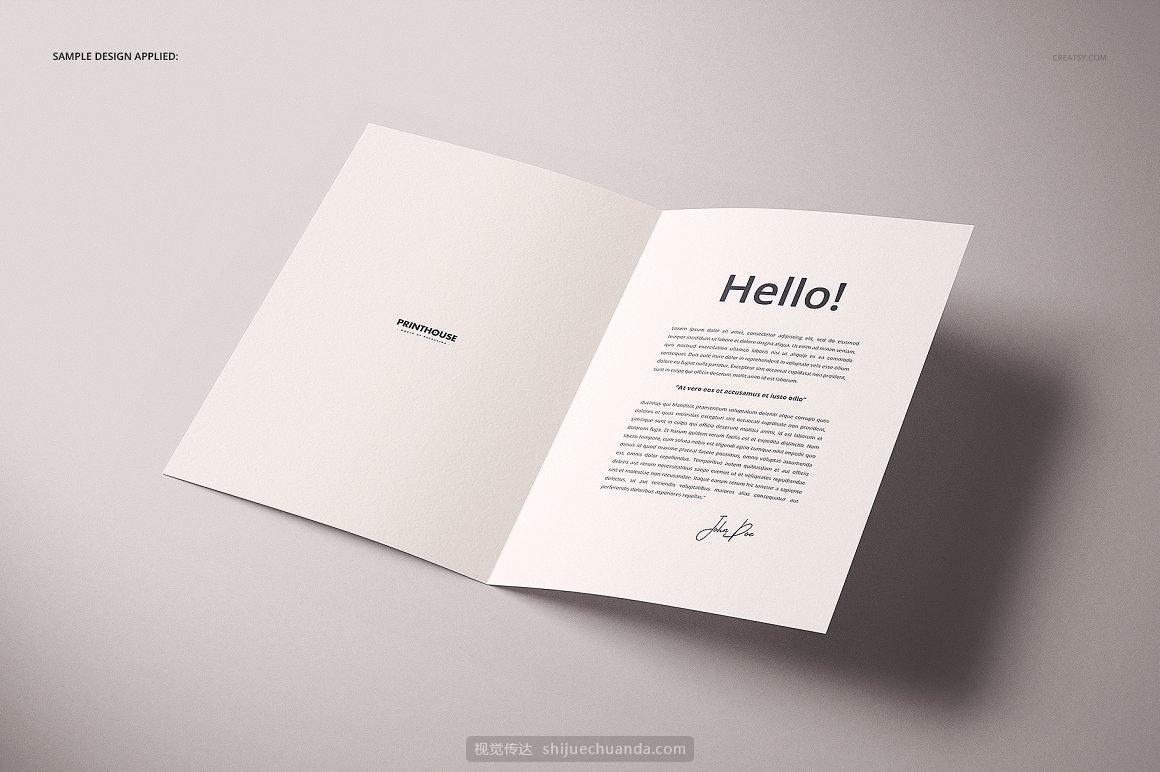 A4折页宣传单小册子设计提案样机PSD模板