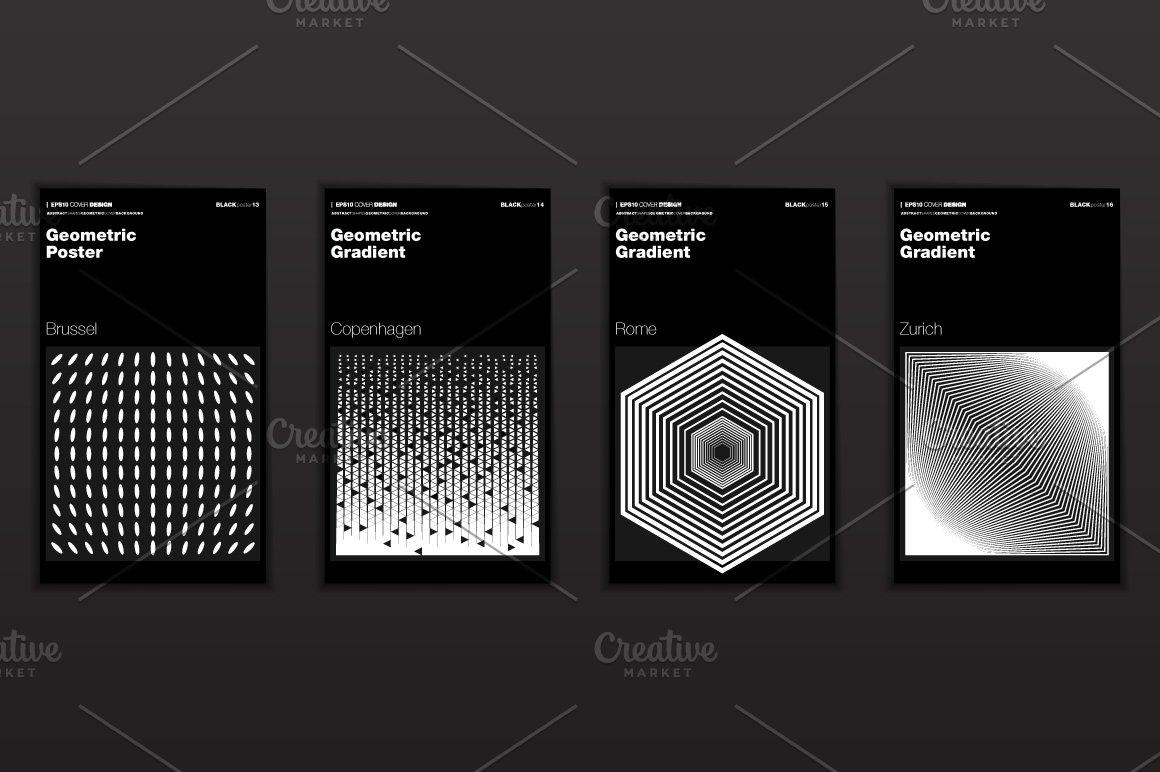抽象艺术几何渐变形状海报