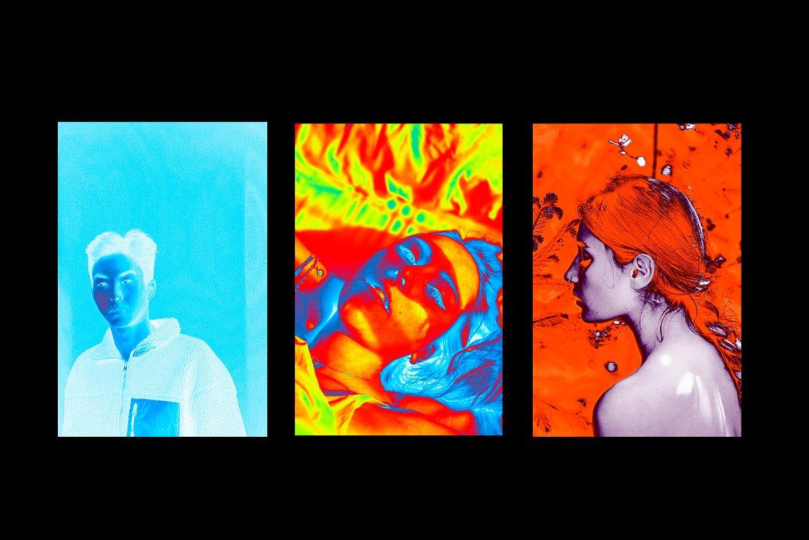 酸性艺术全息渐变滤镜