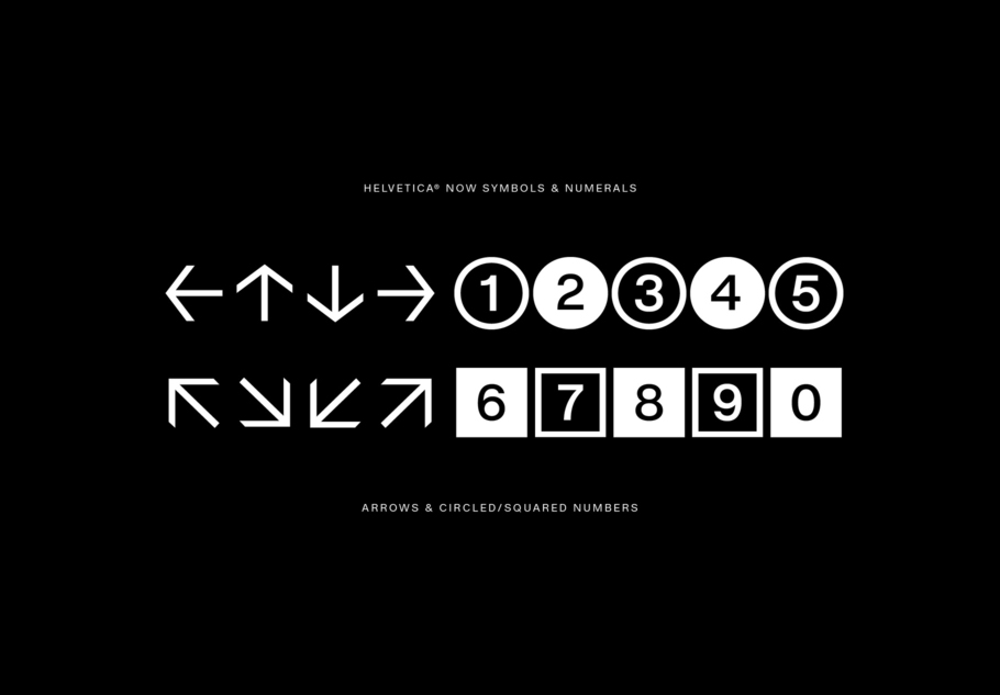 Helvetica 字体家族