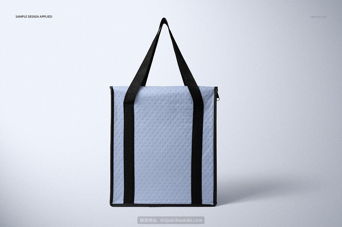 外卖保温袋包装设计提案样机PSD模板