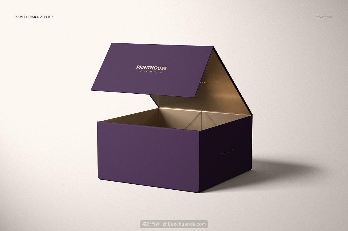 高端礼物盒包装设计样机PSD模板