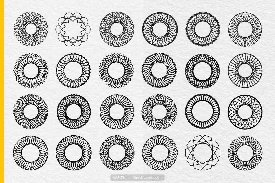 现代矢量曼荼罗图案集合