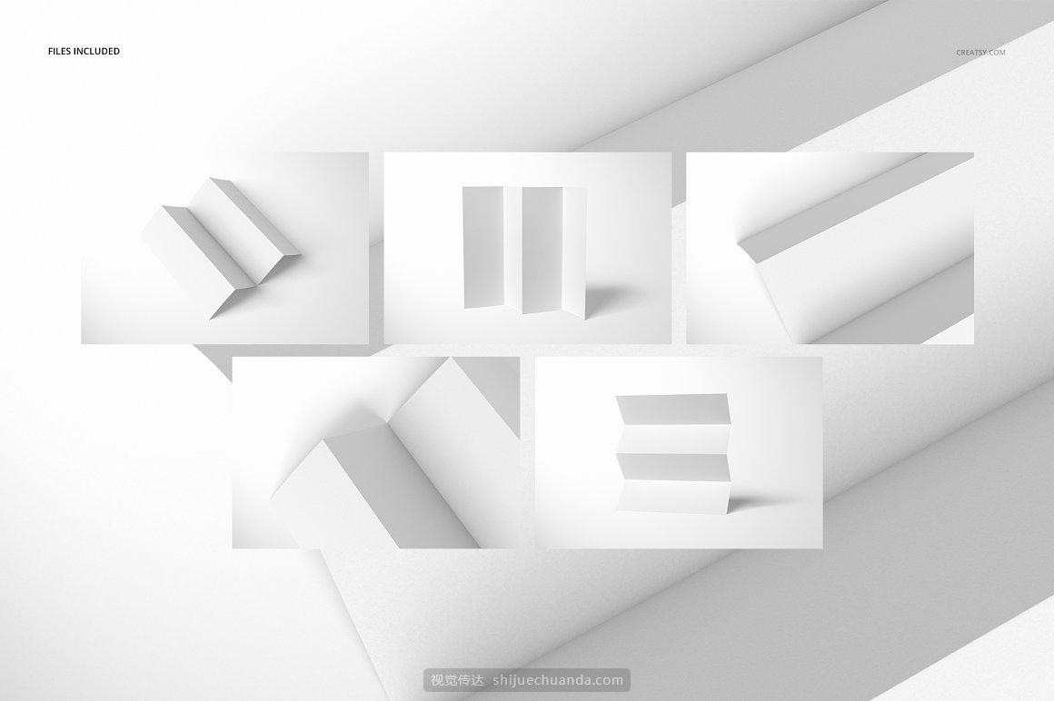 宣传小册子折页传单设计提案样机PSD模板