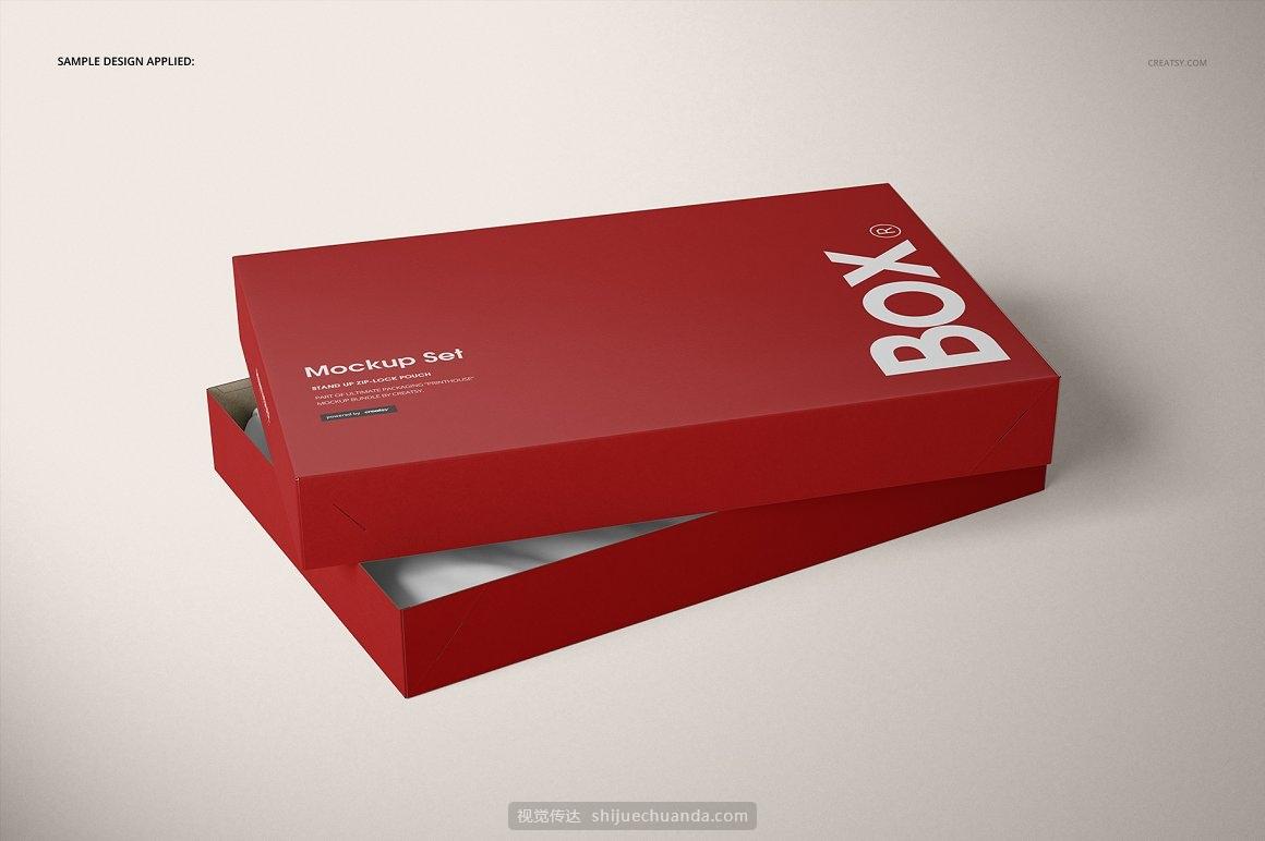 服饰包装纸盒设计提案样机PSD模板