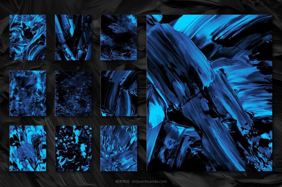 抽象流体颜料油漆液体纹理背景