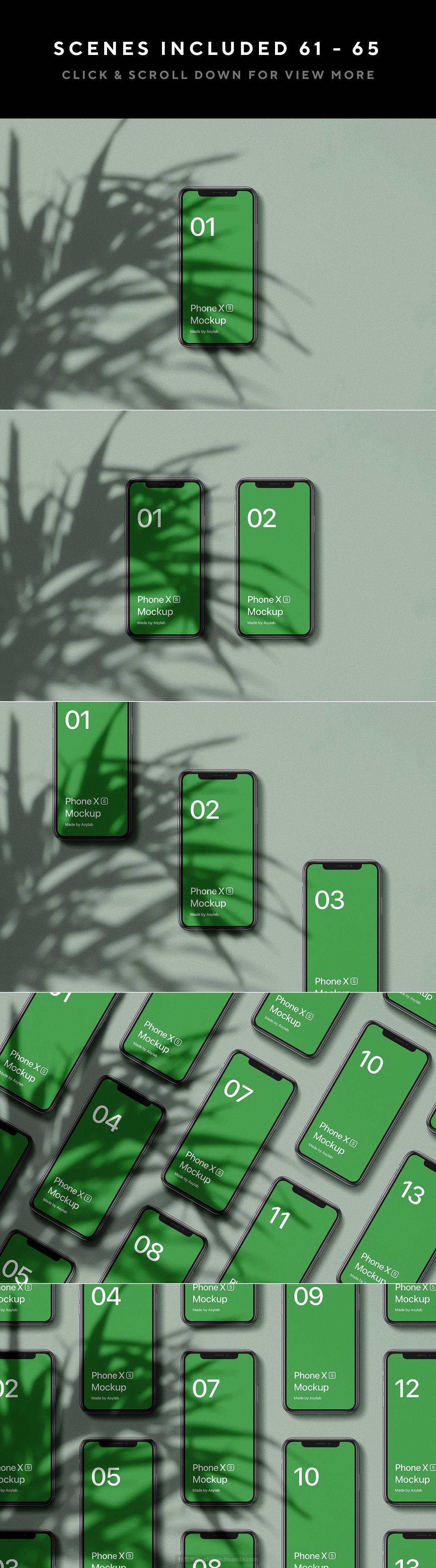 自然阳光植物光影品牌提案样机模板