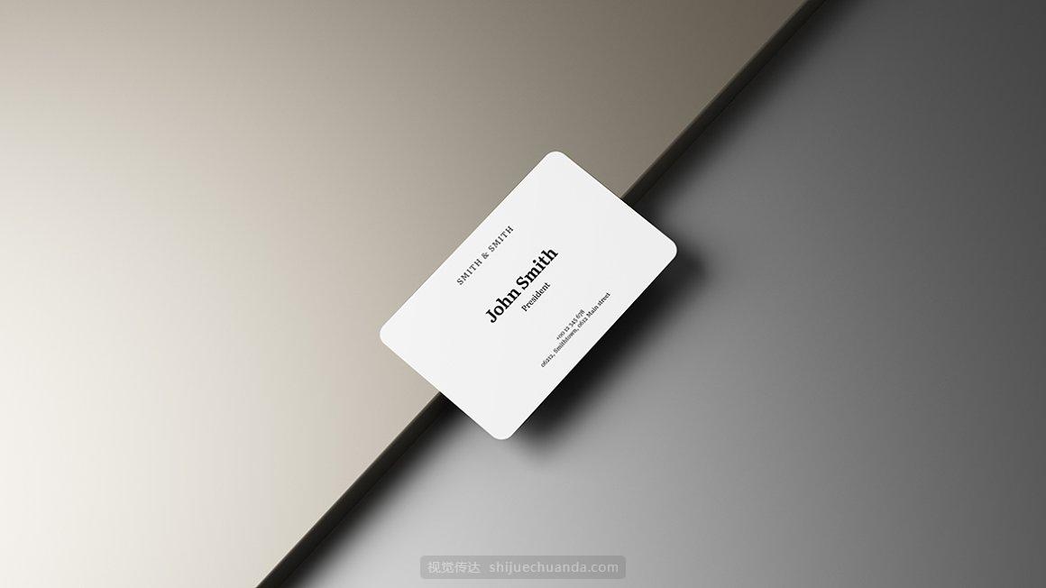 高端名片品牌提案样机模板