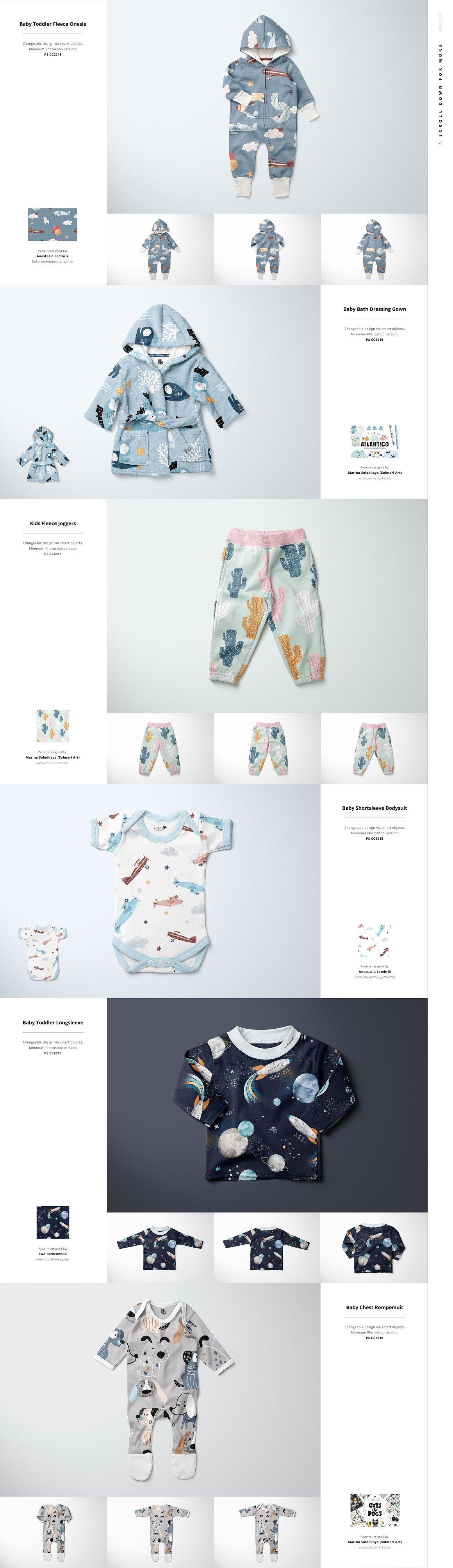 儿童服饰样机模型