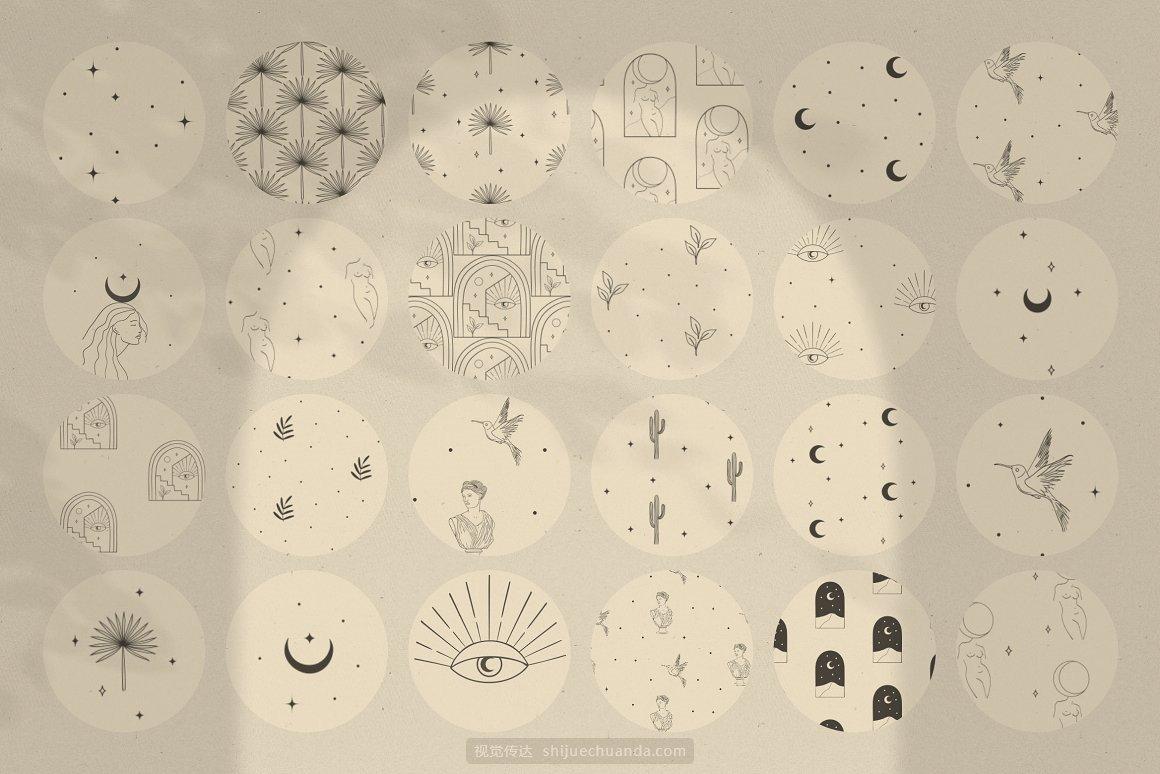 极简现代弧形标志LOGO设计图形合集