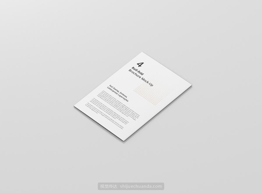 小册子折页传单模型样机
