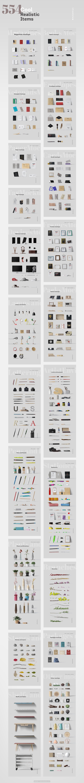 高质量品牌VI场景设计PSD样机模板