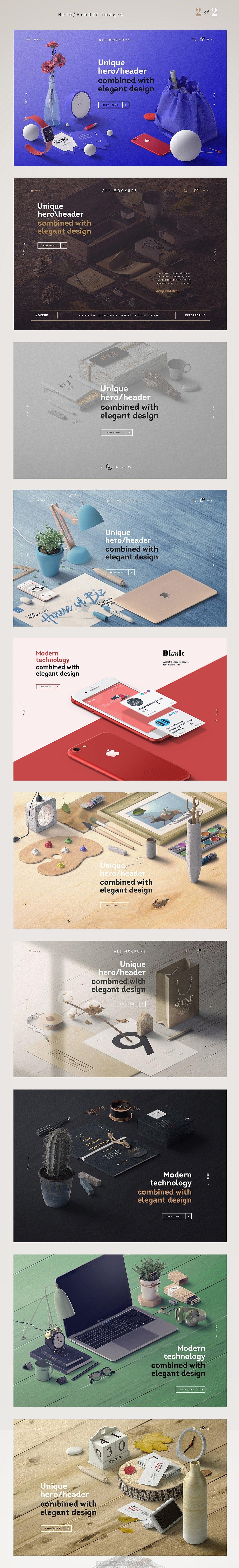 高质量品牌提案VI场景设计PSD样机