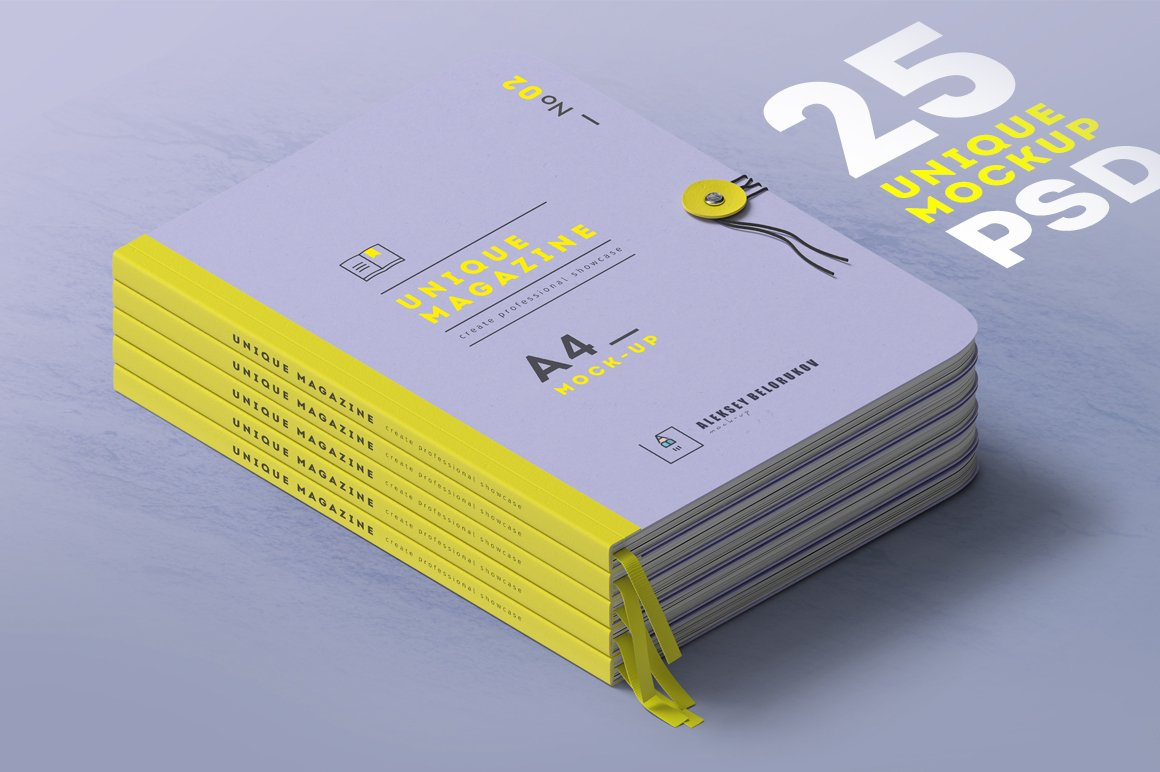 铆钉杂志画册设计场景提案样机模板