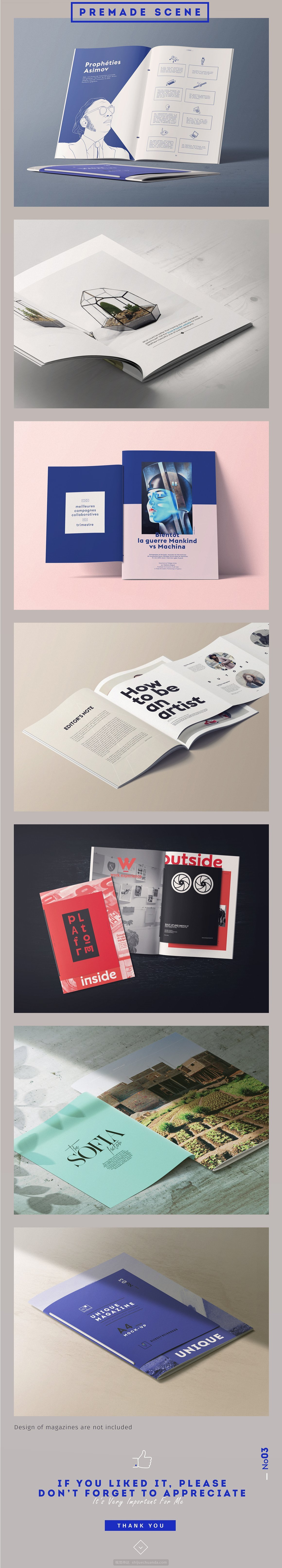 高端杂志画册设计场景提案样机模板
