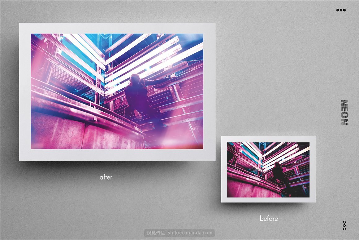 霓虹灯泄漏和发光图片叠加层