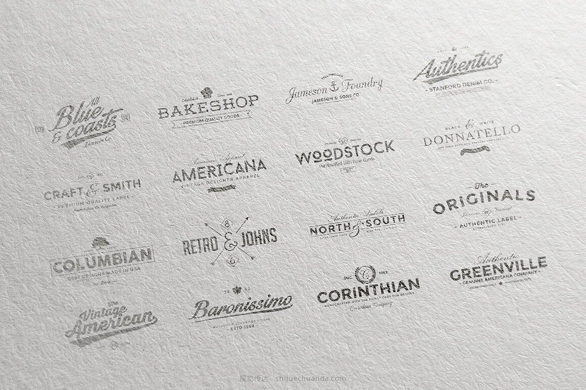 矢量复古logo图形合集