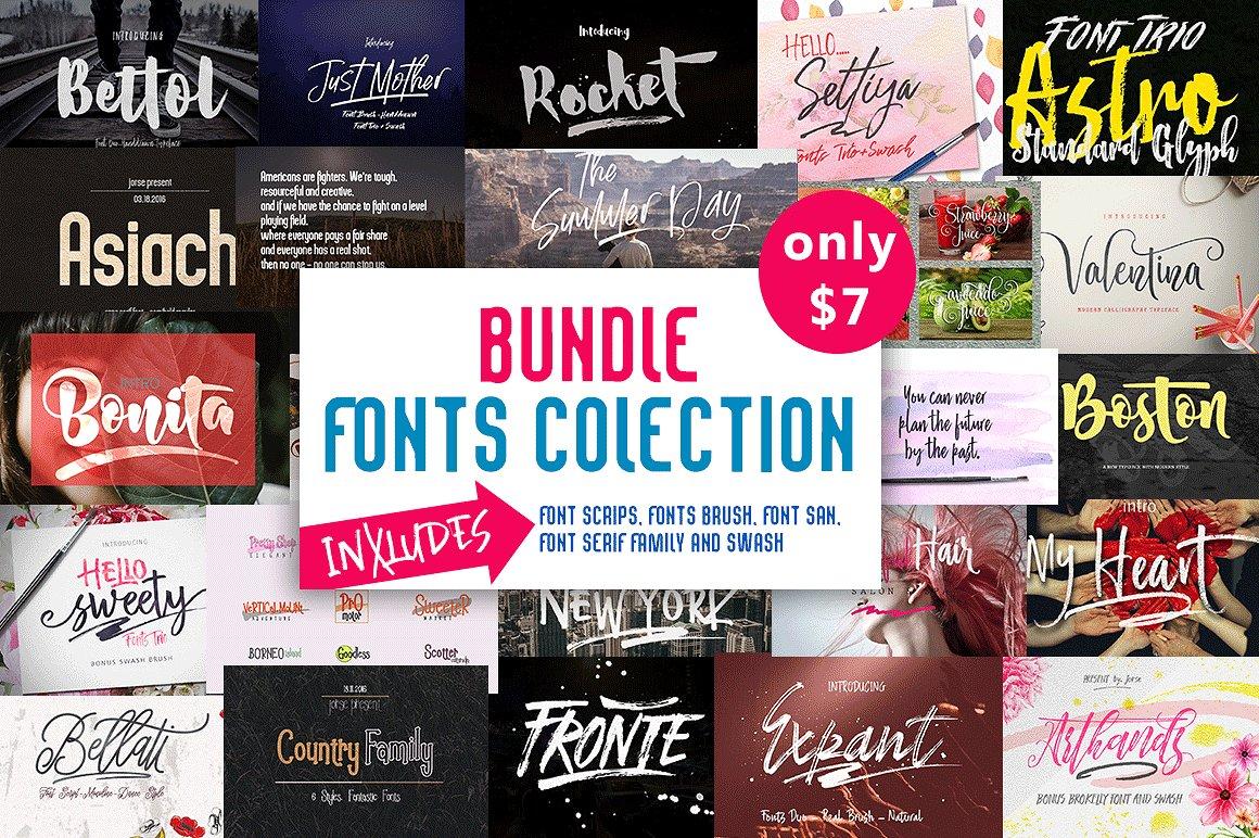 手写字体合集 BUNDLE (Fonts Colection)