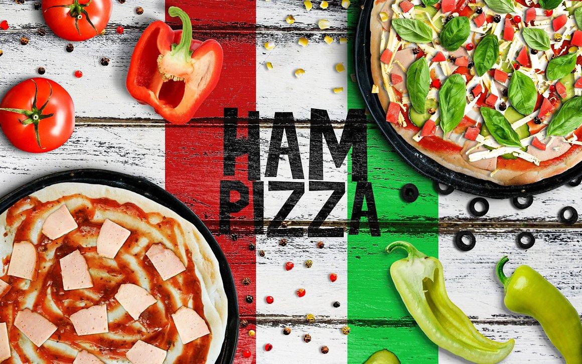披萨场景生成器样机模板
