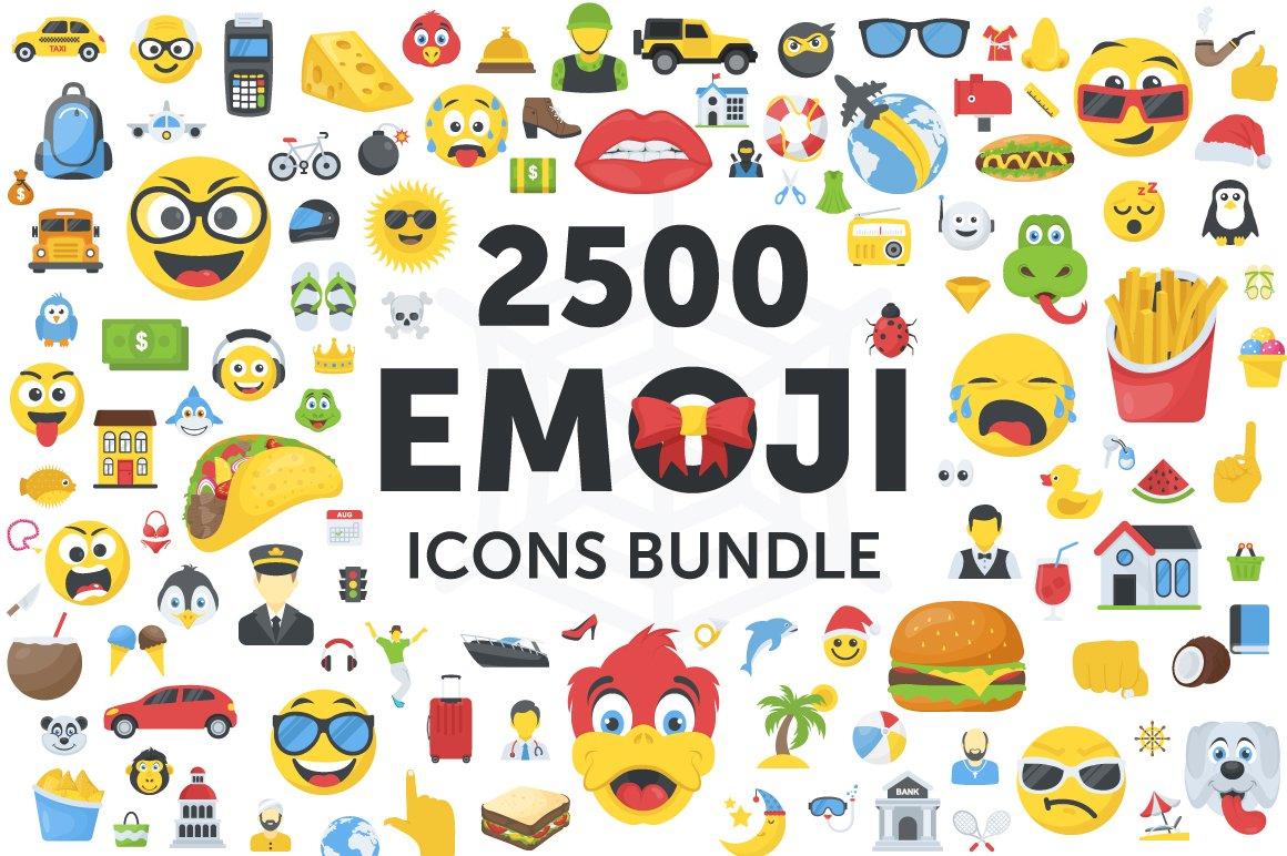 2500个表情符号图标包 Emoji Icons Bundle