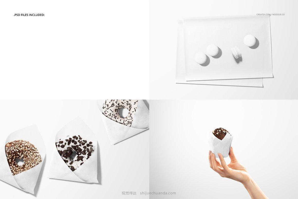 糕点食品包装纸样机模板