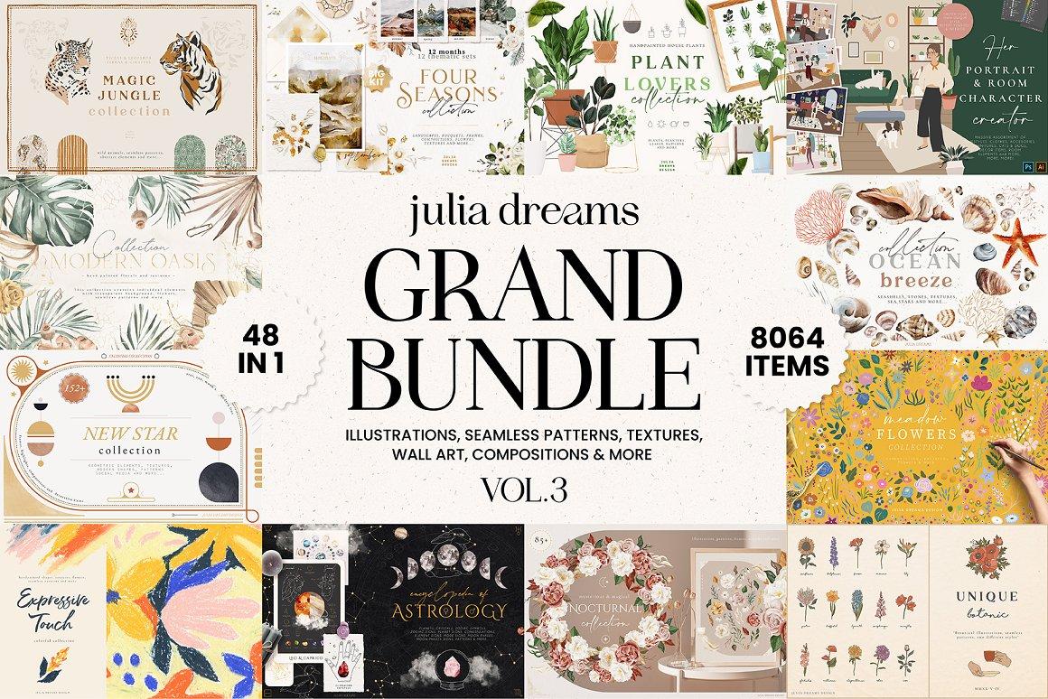 8064个图形元素合集打包下载 GRAPHICS GRAND BUNDLE