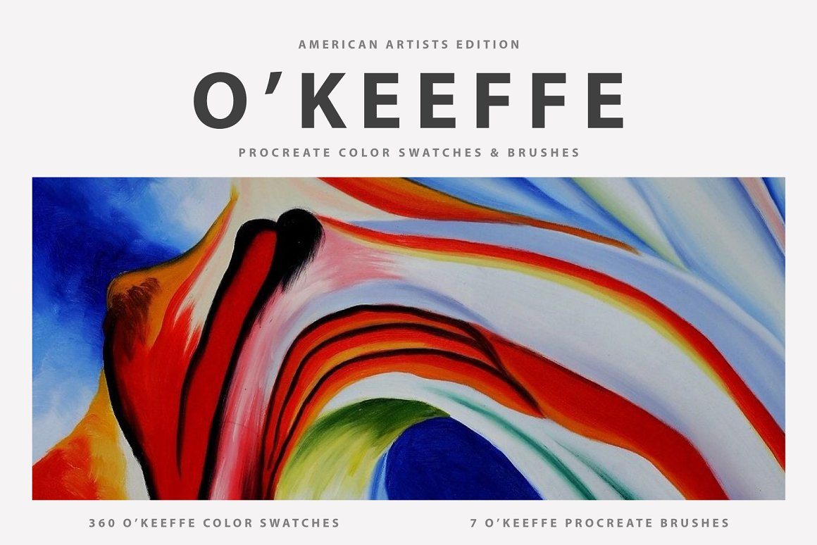 艺术家绘画Procreate笔刷 Georgia O'Keeffe Procreate Brushes
